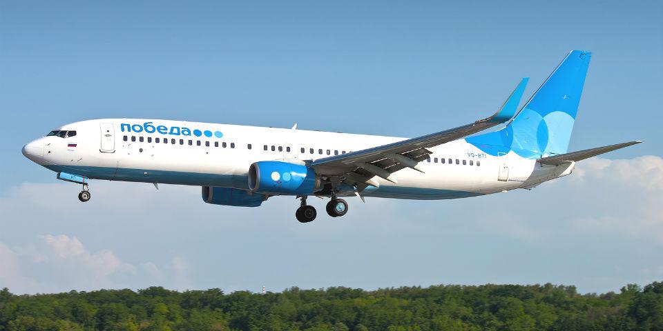 Самолет авиакомпании «Победа»